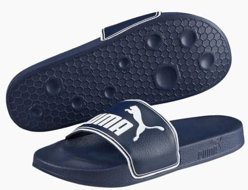 Puma LeadCat Slides Sliders Shower Sandals Beach Pool Blue / White 360263-02 UK6